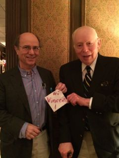 Nobel Laureates Frank Wilczek and Steven Weinberg wish Vincent Liu a merry Christmas